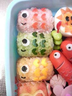 Koinobori onigiri for Boy's festival  in May 5