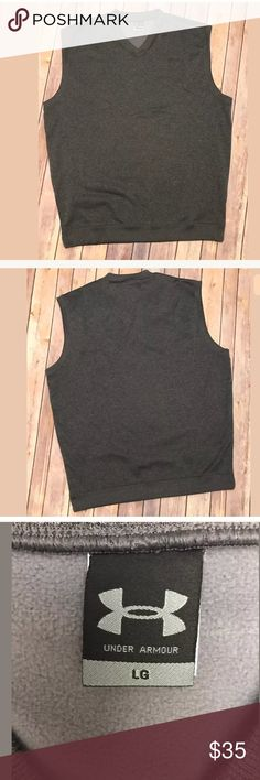 Under Armour UA Golf Vest Dark Charcoal Gray Under Armour UA  Golf Vest  Men's Size Large  Dark Charcoal Heathered Gray  Sleeveless Under Armour Other