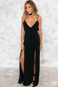 4730b6e9e1 Havana Nights Double Slit Maxi Dress