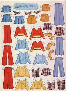 Kathleen Taylor's Dakota Dreams: Thursday Tab on Wednesday- Whitman Tiny Tot Shop  The Mix 'n Match clothes were my favorites.