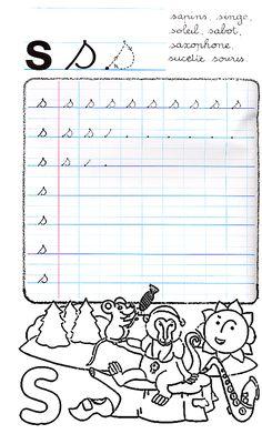 Alphabet Cursif, Maternelle Grande Section, Notebook, Bullet Journal, Couture, Activities, Recipes, Lyrics, Cursive Alphabet Letters