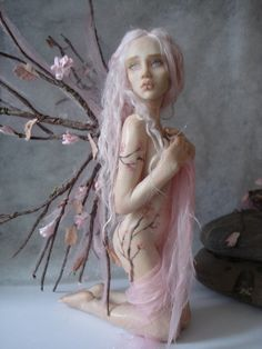 SHADOWSCULPT OOAK FAIRY commission one of a kind sculpture art doll fantasy figurine made to order. £250.00, via Etsy.