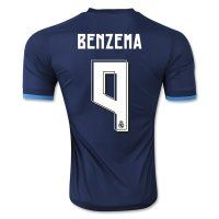 Real Madrid C.F 2015-16 Season BENZEMA #9 Third Soccer Jersey [PF6222398529]