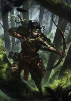 Skillful Archer by poibuts Ambush in Ithilien In early March T.A. 3019 it was fought by Men against Men: Rangers of Ithilien, led by Faramir the son of the Steward Denethor of Gondor, to ambush Haradrim who would pass through Ithilien. Southrons of Harad, Men allied with the evil Sauron When the Host of the West marched on the Morannon, Mablung and his troops discovered an ambush by Orcs and Easterlings that lay hid in Ithilien. The ambush was quickly turned.