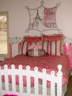 Paris Bedding Theme For Girls | Frivole aime : Paris themed girls bedrooms