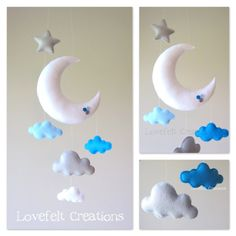 Baby mobile - Moon mobile - Cloud Mobile Owl - Baby Mobile Stars