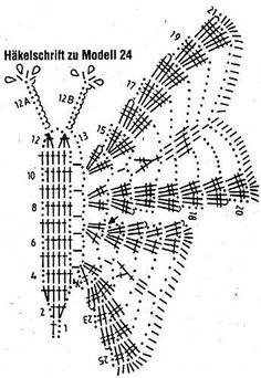 Crocheted Butterflies diagrams