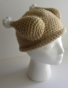 CROCHET PATTERN - Crocheted Turkey Dinner Hat.  I want to make this for the kids for the annual Thanksgiving Day Turkey Trot