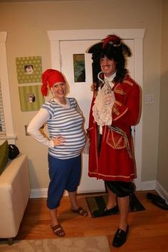 Captain Hook and Smee costumes. If I didn't already have my preggo costume planned...