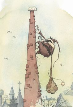 Chimney Climb Poster by Gris Grimly