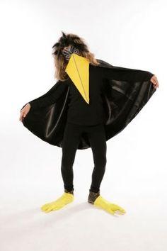 Basteln mit Kindern - Kostenlose Bastelvorlage Kostüme: Karnevalskostüm: Rabe