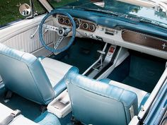 1964 Ford Mustang Convertible Pony Interior treatment. This is Lee Iacocca's Mustang.
