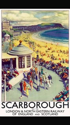 Vintage Travel Poster Scarborough LNER