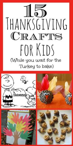 (15) Thanksgiving Crafts for Kids ~ here are some great Thanksgiving crafts and ideas for your kids while they wait for the Turkey to cook!