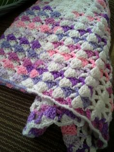 Super easy stitch for a baby rug.