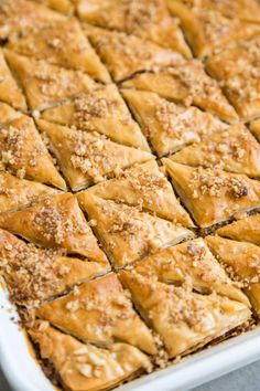 Coconut Walnut Baklava - The Little Epicurean Coconut Recipes, Pastry Recipes, Dessert Recipes, Cake Recipes, Delicious Desserts, Yummy Food, Sweet Desserts, Biscuits, Sweets