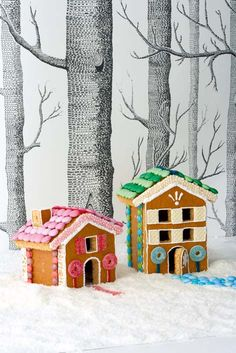 Build a gingerbread house - your children will love helping you build and decorate these adorable Hansel and Gretel houses.