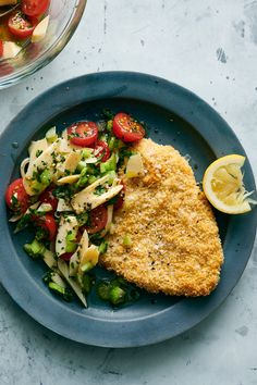 NYT Cooking: Schnitzel is a way of preparing thin slices of meat by breading and frying them until crisp. While the popular Viennese dish is traditionally made with thinly pounded veal, here, pounded pork cutlets are breaded and baked on a sheet pan — rather than fried in a skillet — until golden for an easy weeknight meal. The key to perfectly brown breadcrumbs is the addition of a few dollops of mayonnais...