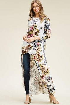 537eb20a670930 Angelica Floral Hi-Lo Maxi Top. Wholesale ClothingFloral ...