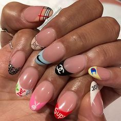 Nail art Christmas - the festive spirit on the nails. Over 70 creative ideas and tutorials - My Nails Nail Swag, Best Acrylic Nails, Acrylic Nail Designs, Popsugar, Nagel Hacks, Nagellack Trends, Fire Nails, Dream Nails, Manicure E Pedicure