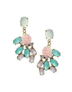 Made for Sofia Coppola's film awash in pastels: ASOS Adele Marie Statement Crystal Drop Earrings.