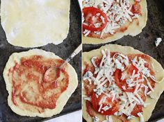 Mini Pizzas de Queso Azul y Rúcula con Masa de Quiche   Salado   Letitbecosy.com