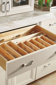 Our Cutlery Divider organizes even the most cluttered drawers and keeps utensils at the ready.