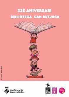 Noemí Villamuza celebra el aniversario de Biblioteca Can Butjosa con este delicado cartel. Les deseamos larga y próspera lectura.