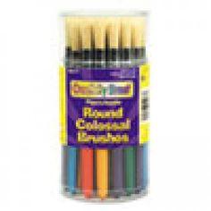 Art & Craft Kits: Colossal Brush, Natural Bristle, Round, 30/Set