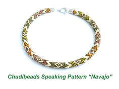 Navajo  Chudibeads speaking pattern for necklace by Chudibeads, $15.00