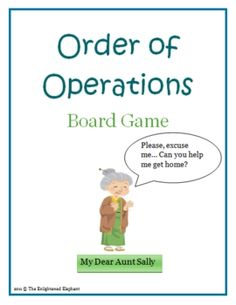My Dear Aunt Sally can't remember the way home and needs help getting to her house!  Students must answer the questions correctly and follow the or...