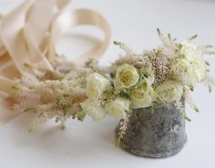 Flower crown made of pink astilbe and spray roses Astilbe, Spray Roses, Flower Crowns, Rustic, Table Decorations, Instagram Posts, Floral, Flowers, Pink