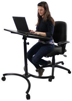 Height Adjustable Laptop Stand w/ Tilting 28  Platform - Black  sc 1 st  Pinterest & computer table for recliner | Air Desk Laptop Desk Laptop Stand ... islam-shia.org