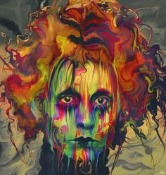 Pinturas em efeito de delírio psicodélico por Nicky Barkla - Edward mãos de tesoura