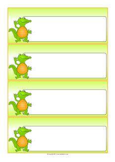 Crocodile-themed editable communication slips