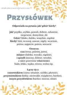 Polish Language, School Notes, Teaching Kids, Study, Science, Education, Montessori, Speech Language Therapy, Literatura