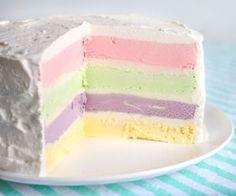 Rainbow Ice Cream Cake