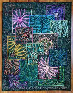 garden-collage3-quilted with Shiva paintsticks