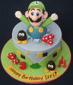 "Blissfully Sweet: Luigi Birthday Cake for a ""Racy"" little 3 Year Old"