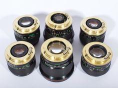 24mm f/1.4, 28mm f/2, 35mm f/2, 50mm f/1.2  converted FD to EF