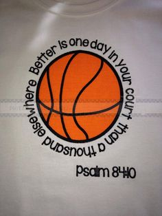 Childs embroidered Basketball shirt with Psalm verse on Etsy, $21.00