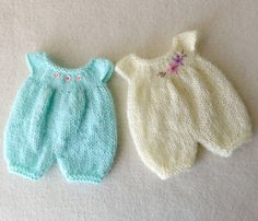 PDF Knitted Romper Pattern for Gingermelon My Felt by myfairdolly