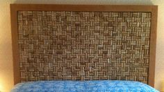 Wine cork headboard