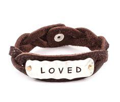 Loved Bracelet in Brown Leather