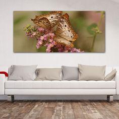 Ερωτευμένες πεταλούδες νο 2 πανοραμικός πίνακας σε καμβά