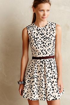 #Leopop #Flared #Dress #Anthropologie