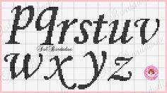 Arti e ricami sole: Monogram Sun Rose Cross Stitch Designs, Cross Stitch Patterns, Cross Stitch Alphabet, Alphabet And Numbers, Embroidery, Amelie, Alphabet Charts, Cross Stitch Letters, Cross Stitch Art