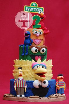 Sesame Street Birthday Cake--where was this pin when I was planning Jax's birthday??!!