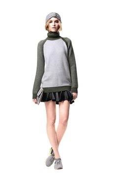 Primary NY FW13: cute skater skirt with sweater combo.