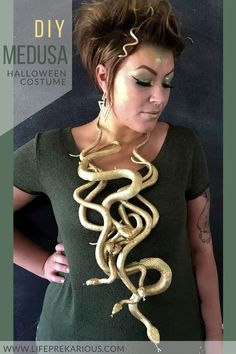 Easy DIY Medusa Halloween Costume